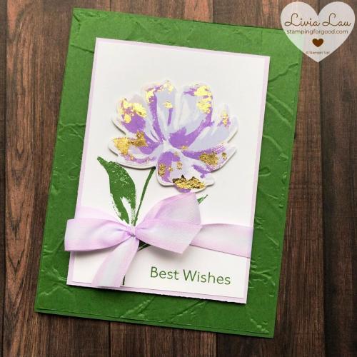 Art Gallery Purple Flower Card