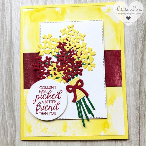 Beautiful Bouquet Yellow Card 1