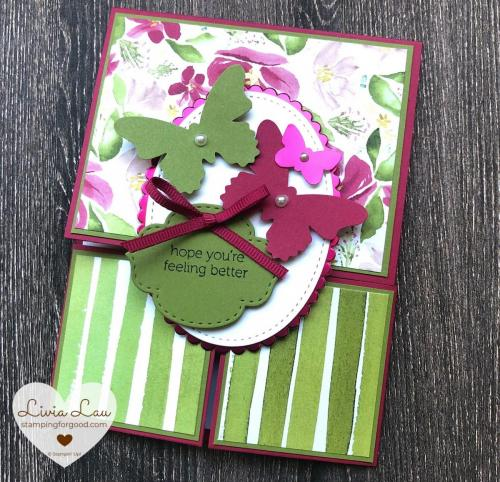 Double Dutch Fold Butterflies Card 1