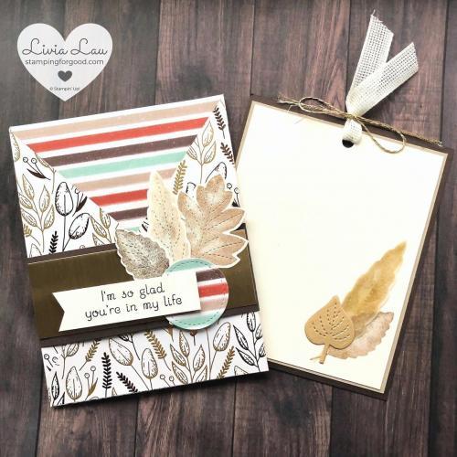 Gilded Autumn Pocket Fold Notecard