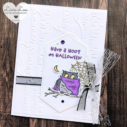Have A Hoot Halloween Owl Moon Gatefold Card