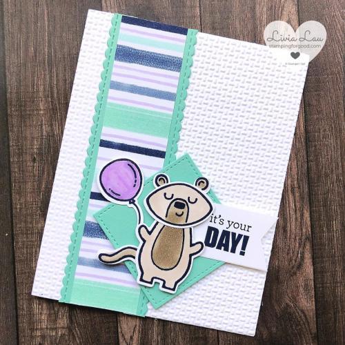 Menagerie Mix Up Bear Balloon Card