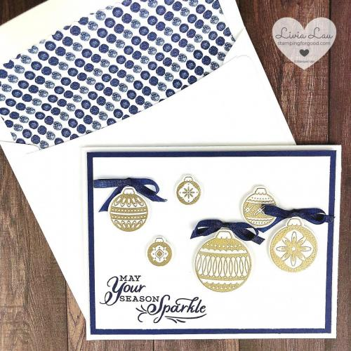 Ornamental Envelope Sparkle Card With Dsp