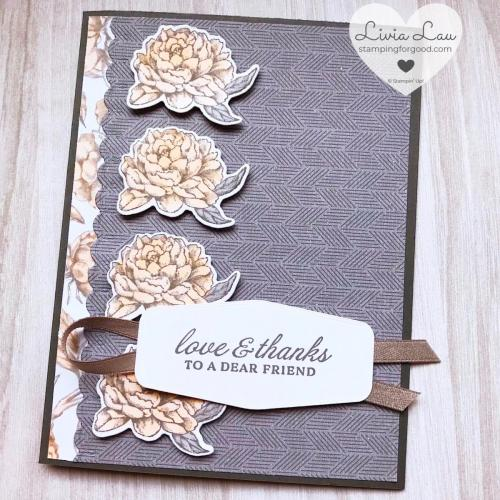Prized Peony 4 Stack Card