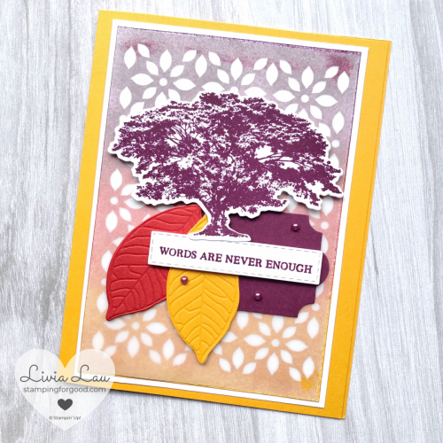 Rooted In Nature Detailed Background Card