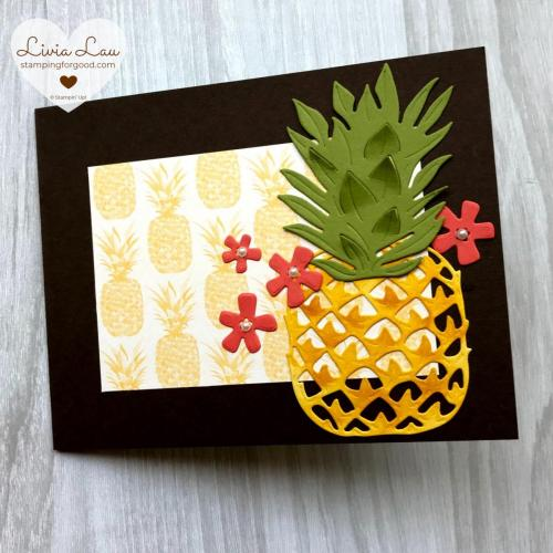 Timeless Tropical Fancy Fold Card